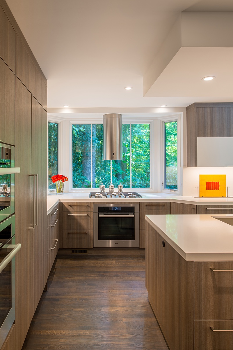 Kitchen renovation with large bay window