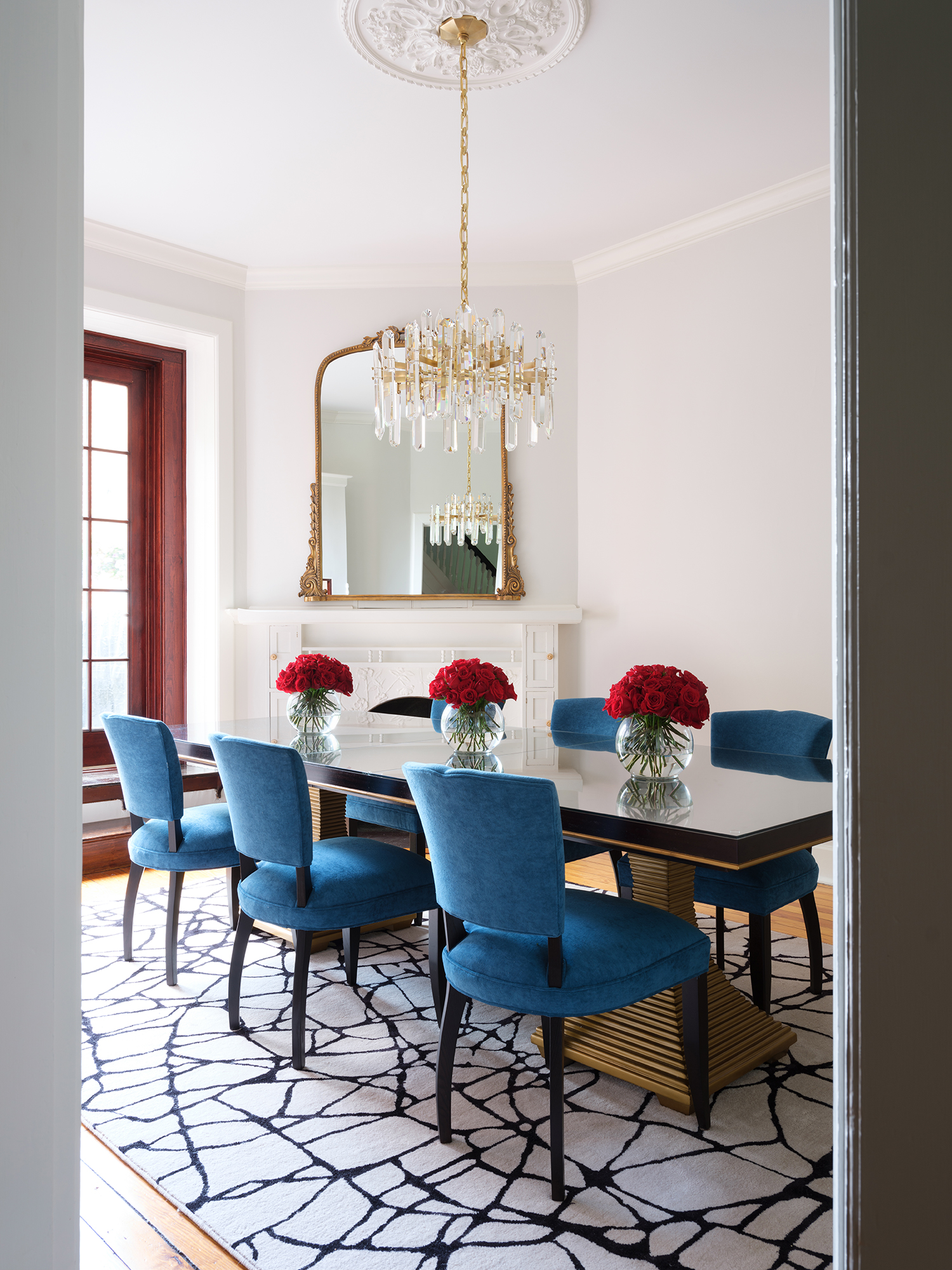 Historic dining room with modern details