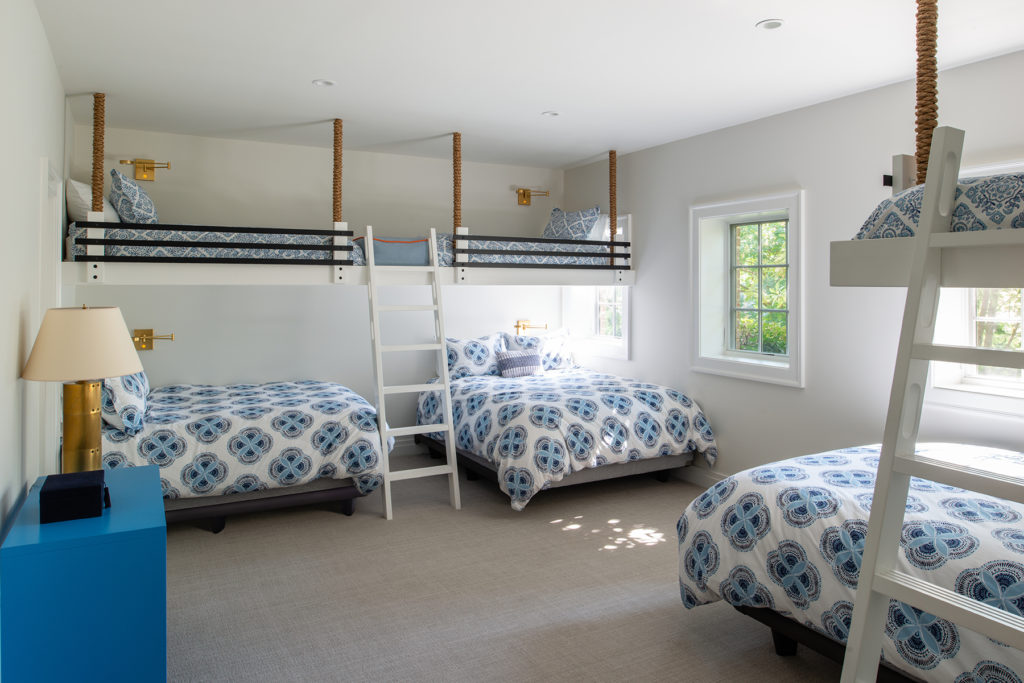 Guest basement bedroom for kids in beach house