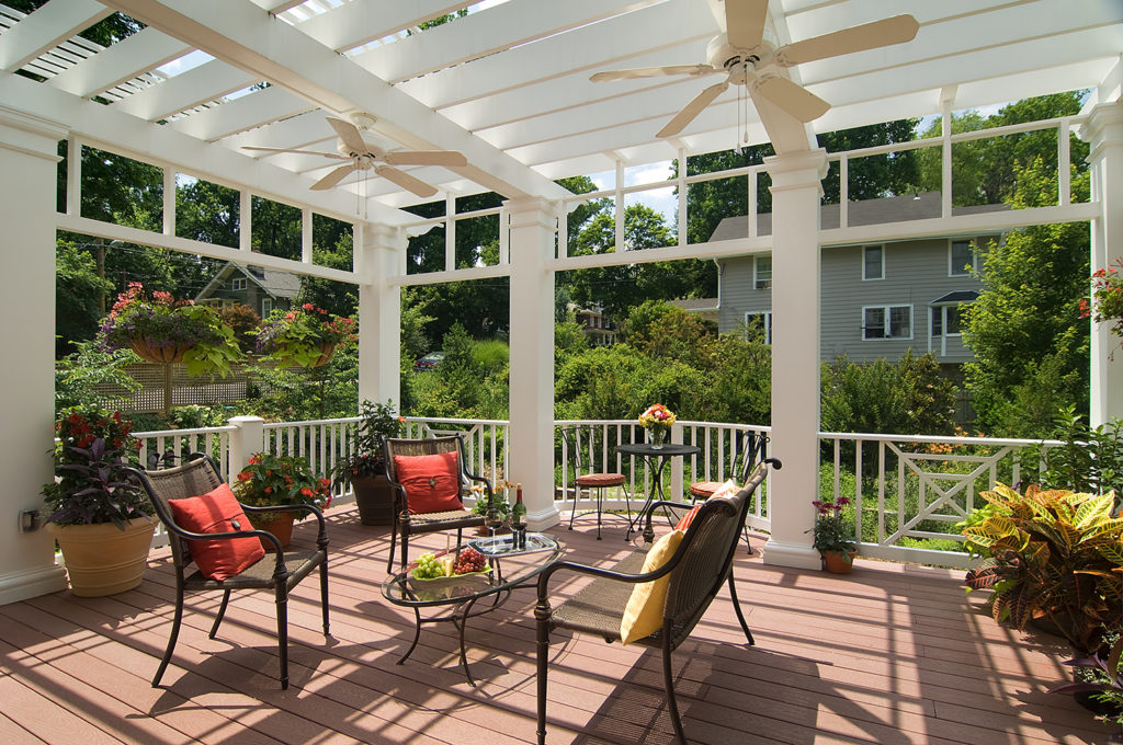 Deck and arbor in DC yard