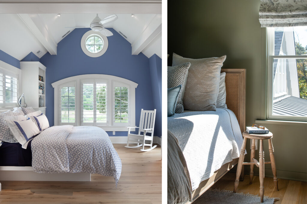 green and blue bedroom paint